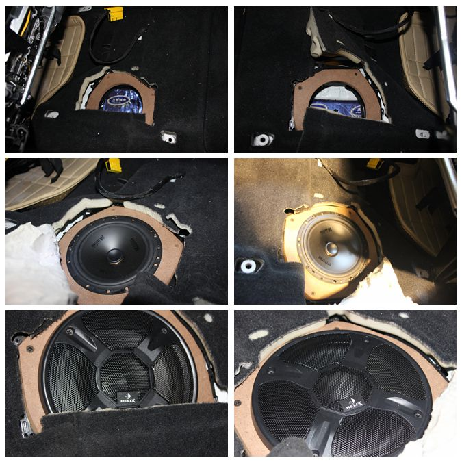 就是恢复内饰!重庆宝马X1音响改装 升级两分频喇叭改装案例分享高清图片
