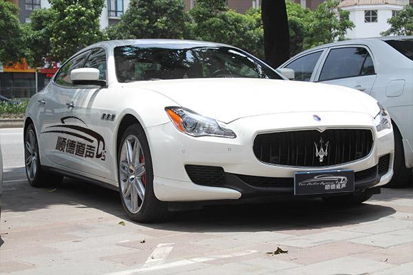 百万豪车玛莎拉蒂总裁驱车顺德道声改装汽车音响隔音